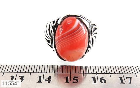 انگشتر عقیق قرمز طرح ابروبادی خاص مردانه - تصویر 6