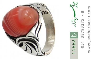 انگشتر عقیق قرمز طرح ابروبادی خاص مردانه - کد 11554