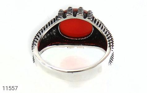 انگشتر عقیق قرمز خوش رنگ مردانه - تصویر 4