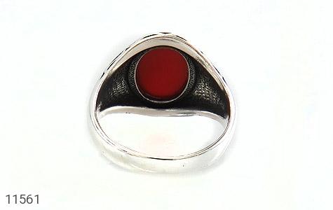 انگشتر عقیق قرمز طرح ذوالفقار مردانه - تصویر 4