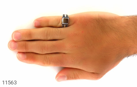 انگشتر عقیق جذاب طرح ورساچه مردانه - عکس 7