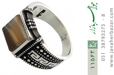 انگشتر عقیق جذاب طرح ورساچه مردانه - کد 11563