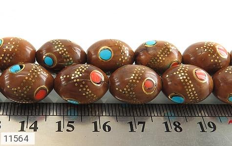 تسبیح کوک (کشکول) 33 دانه مرصع کاری - تصویر 4
