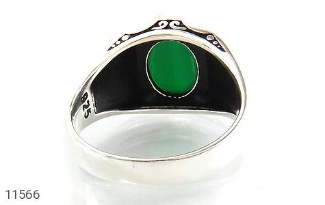 انگشتر عقیق سبز جذاب طرح ورساچه مردانه - تصویر 4