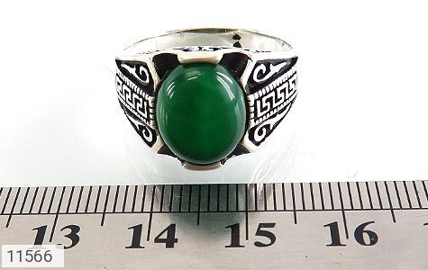 انگشتر عقیق سبز جذاب طرح ورساچه مردانه - تصویر 6