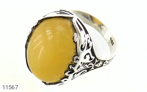 انگشتر عقیق زرد درشت مردانه - عکس 1