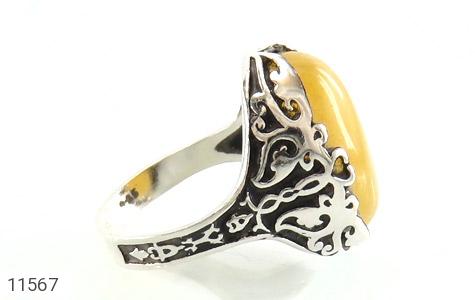 انگشتر عقیق زرد درشت مردانه - عکس 3