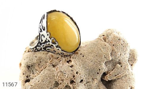 انگشتر عقیق زرد درشت مردانه - عکس 5