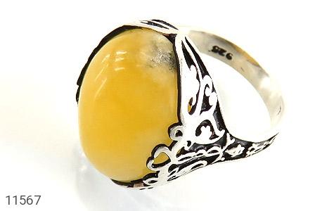 انگشتر عقیق زرد درشت مردانه - عکس 9