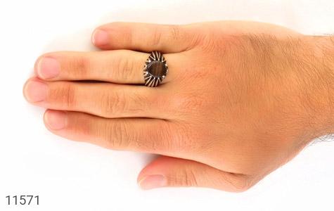انگشتر عقیق طرح ابروبادی مردانه - عکس 7