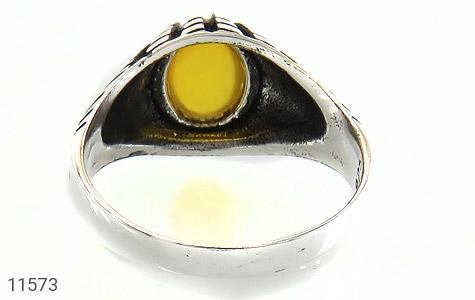 انگشتر عقیق زرد رکاب سنتی مردانه - تصویر 4