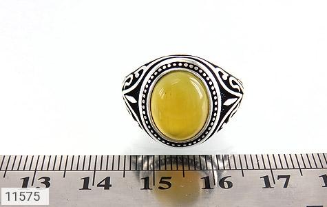 انگشتر عقیق زرد طرح اسلیمی مردانه - تصویر 6