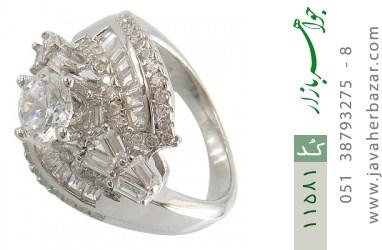 انگشتر نقره سولیتر طرح تانیا زنانه - کد 11581