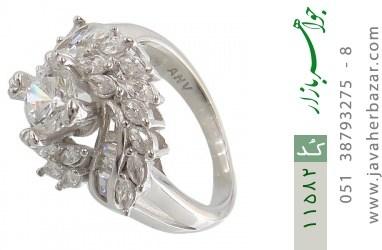 انگشتر نقره سولیتر طرح آیناز زنانه - کد 11582