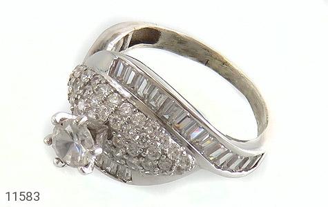 انگشتر نقره سولیتر طرح ساینا زنانه - عکس 1