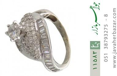 انگشتر نقره سولیتر طرح ساینا زنانه - کد 11583