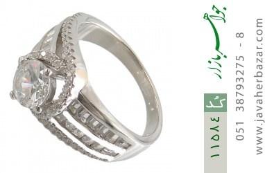 انگشتر نقره سولیتر طرح فریال زنانه - کد 11584