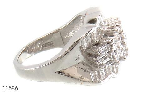 انگشتر نقره سولیتر درشت طرح پریا زنانه - عکس 3