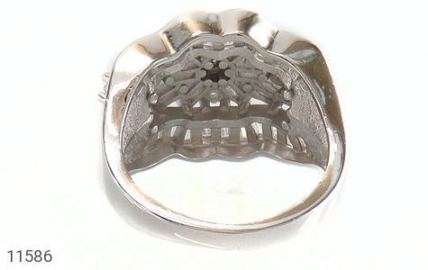 انگشتر نقره سولیتر درشت طرح پریا زنانه - تصویر 4