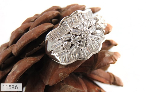 انگشتر نقره سولیتر درشت طرح پریا زنانه - عکس 5