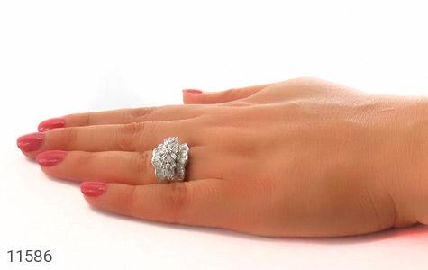 انگشتر نقره سولیتر درشت طرح پریا زنانه - عکس 7