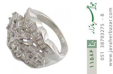 انگشتر نقره سولیتر درشت طرح پریا زنانه - کد 11586