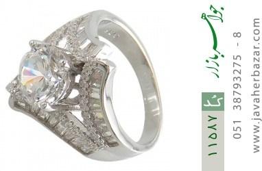 انگشتر نقره سولیتر طرح غزل زنانه - کد 11587