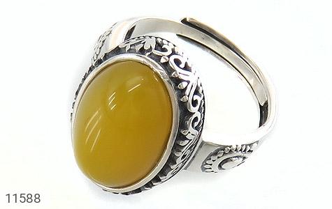 انگشتر عقیق زرد خوش رنگ زنانه - عکس 1