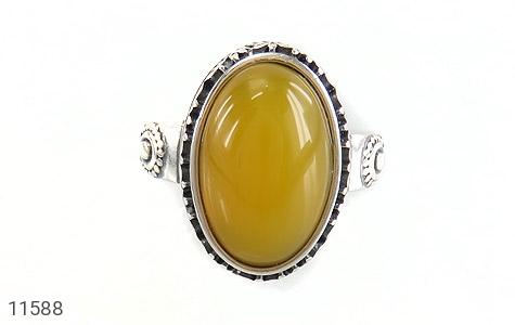 انگشتر عقیق زرد خوش رنگ زنانه - تصویر 2