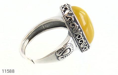 انگشتر عقیق زرد خوش رنگ زنانه - عکس 3
