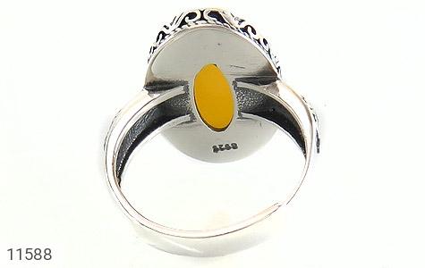 انگشتر عقیق زرد خوش رنگ زنانه - تصویر 4