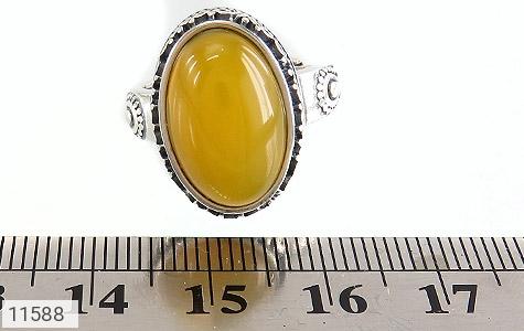 انگشتر عقیق زرد خوش رنگ زنانه - تصویر 6