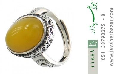 انگشتر عقیق زرد خوش رنگ زنانه - کد 11588