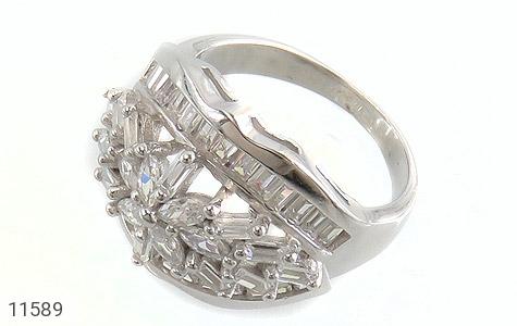 انگشتر نقره سولیتر درشت طرح آرشیدا زنانه - عکس 1