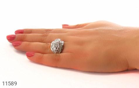 انگشتر نقره سولیتر درشت طرح آرشیدا زنانه - عکس 7