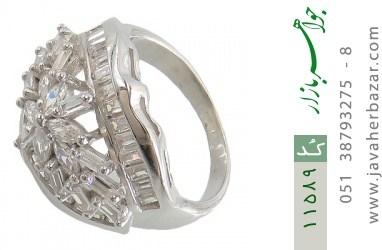 انگشتر نقره سولیتر درشت طرح آرشیدا زنانه - کد 11589