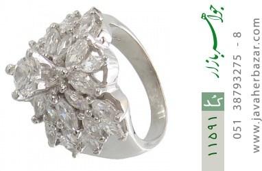 انگشتر نقره سولیتر درشت طرح رونیکا زنانه - کد 11591