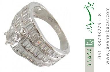 انگشتر نقره سولیتر طرح آنیل زنانه - کد 11594
