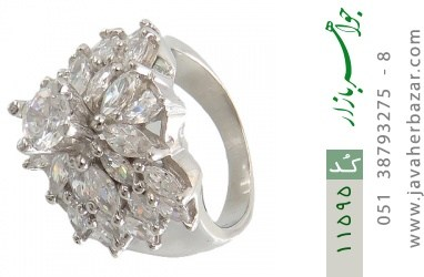 انگشتر نقره سولیتر طرح دیانا زنانه - کد 11595