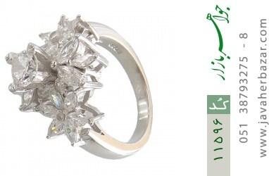 انگشتر نقره سولیتر طرح محیا زنانه - کد 11596