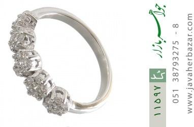انگشتر نقره فلاور طرح نیلا زنانه - کد 11597