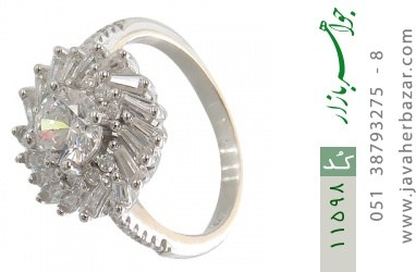انگشتر نقره سولیتر طرح مهسا زنانه - کد 11598