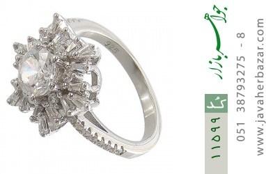 انگشتر نقره سولیتر طرح مهلا زنانه - کد 11599
