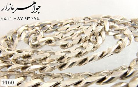 زنجیر نقره لوکس - عکس 1