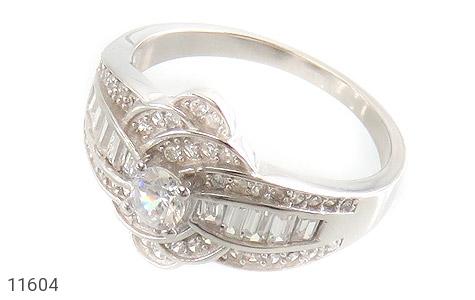انگشتر نقره سولیتر طرح جواهری زنانه - عکس 1