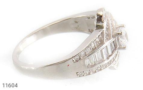 انگشتر نقره سولیتر طرح جواهری زنانه - عکس 3