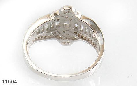 انگشتر نقره سولیتر طرح جواهری زنانه - تصویر 4