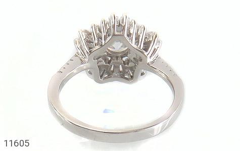 انگشتر نقره سولیتر طرح جواهرنشان زنانه - تصویر 4