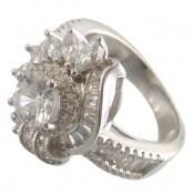 انگشتر نقره سولیتر طرح درخشنده زنانه