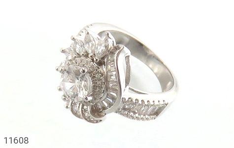 انگشتر نقره سولیتر طرح درخشنده زنانه - عکس 1